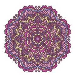 Purple Mandala embroidery design