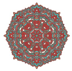 Octagon Mandala embroidery design