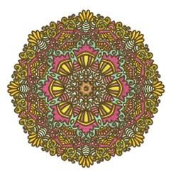 Yellow Mandala embroidery design