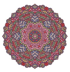 Fuschia Mandala embroidery design
