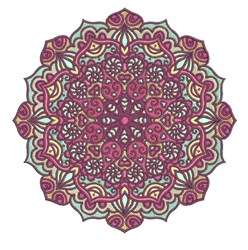 Floral Mandala embroidery design