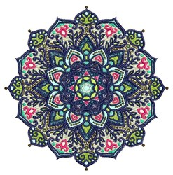 Starburst Mandala embroidery design