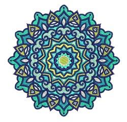 Light Blue Mandala embroidery design