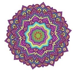Violet Mandala embroidery design