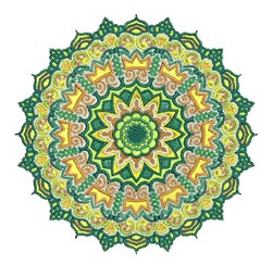 Green Mandala embroidery design