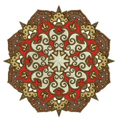 Spiked Mandala embroidery design