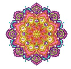 Mandala Burst embroidery design