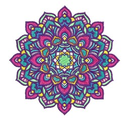 Colorful Mandala embroidery design