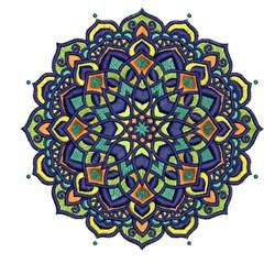 Mandala Blues embroidery design