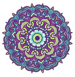 Mandala Purples embroidery design