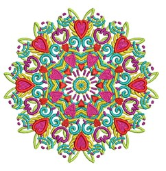 Flower Mandala embroidery design