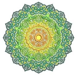 Sunburst Mandala embroidery design