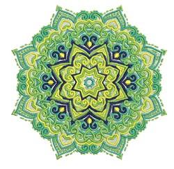 Green Starburst Mandala embroidery design