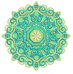 Decorative Mandala embroidery design