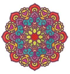 Geometric Mandala embroidery design