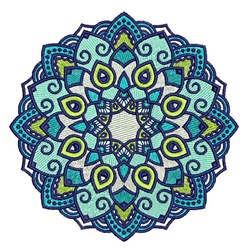 Blue Mandala embroidery design