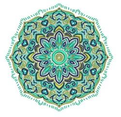 Green Octagon Mandala embroidery design