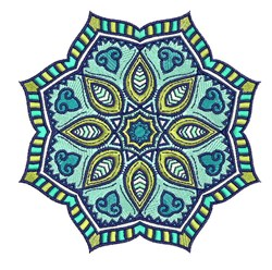 Mandala Flower embroidery design