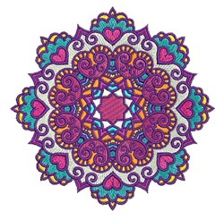 Mandala Embellishment embroidery design