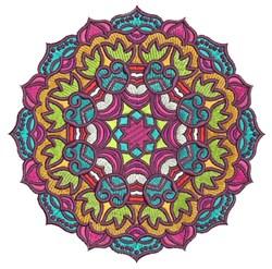 Mandala Figure embroidery design