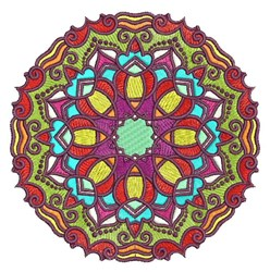 Circle Mandala embroidery design