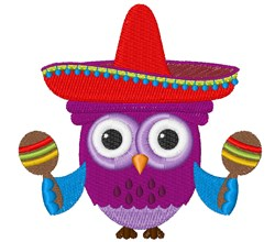 Spanish Owl embroidery design