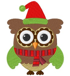 Christmas Owl embroidery design