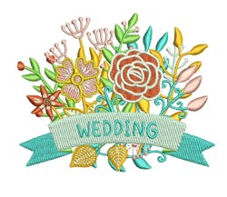 Wedding Flowers embroidery design