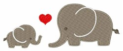 Love Elephant embroidery design