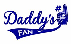 Daddys Fan embroidery design