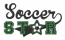 Soccer Star embroidery design