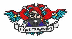 Party Animal Pirate embroidery design