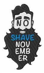 No Shave November embroidery design