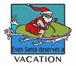Jet Skiing Santa embroidery design