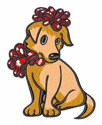 Christmas Puppy embroidery design
