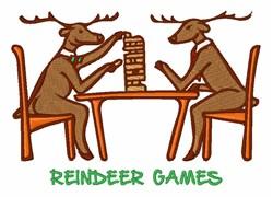 Reindeer Games embroidery design