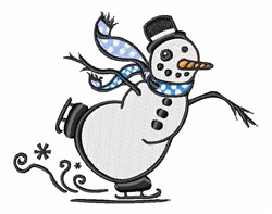Skating Snowman embroidery design