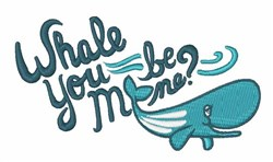 Whale You embroidery design