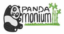 Panda Monium embroidery design