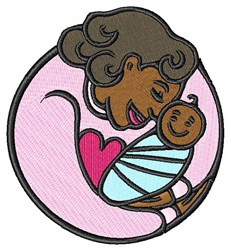 Mom & Baby embroidery design