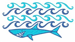 Shark Waves embroidery design