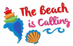 Beach Is Calling embroidery design