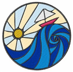 Sailboat Wave embroidery design