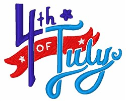 4th Of July embroidery design