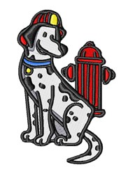 Fire Dog embroidery design