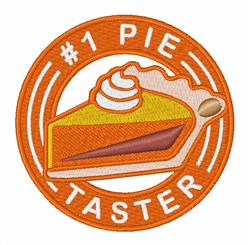 Pie Taster embroidery design