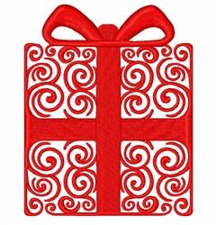 Xmas Swirl Gift embroidery design