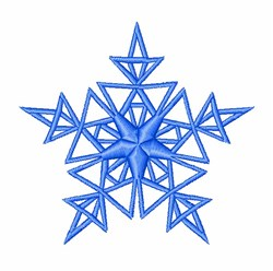 Triangle Snowflake embroidery design
