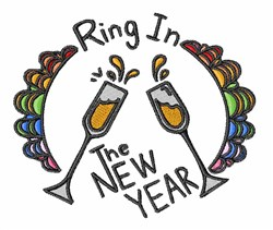 Ring In New Year embroidery design