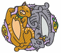 Cats And Fish embroidery design